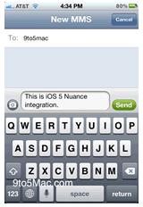 speech to text ios5