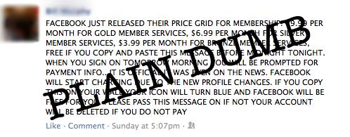 facebook chain status updates