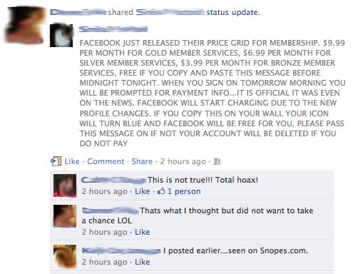 facebook charging users