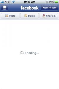 iphone facebook app frozen fix