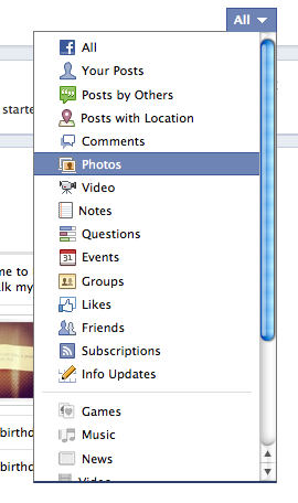 delete facebook timeline status