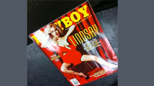 lindsay lohan playboy cover picture