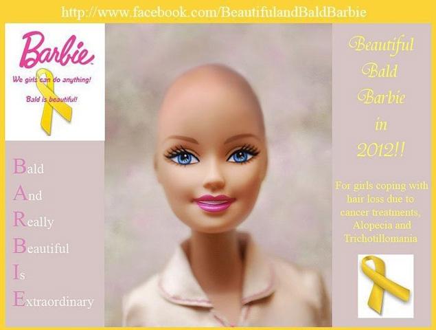 bald barbie cancer doll