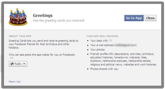 how to remove annoying facebook apps {like the birthday card app}, Greeting card