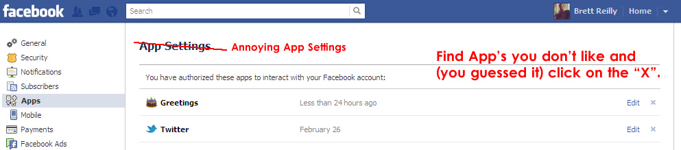 how to remove facebook apps1