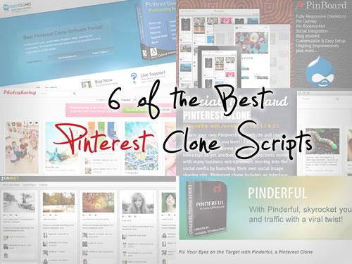 6 best pinterest clone scripts