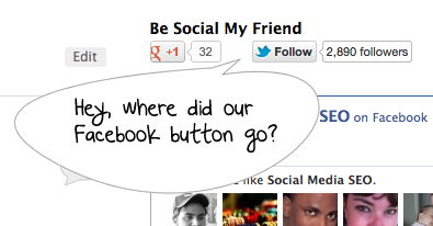 facebook button not working