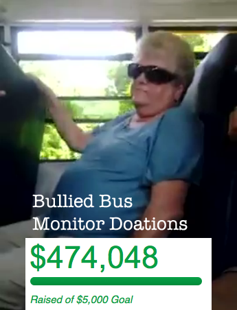 bus monitor bullied donations