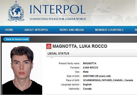 Luka Magnotta Interpol Social Media Seo