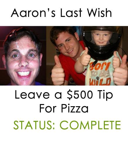 aaron collins 500 pizza tip