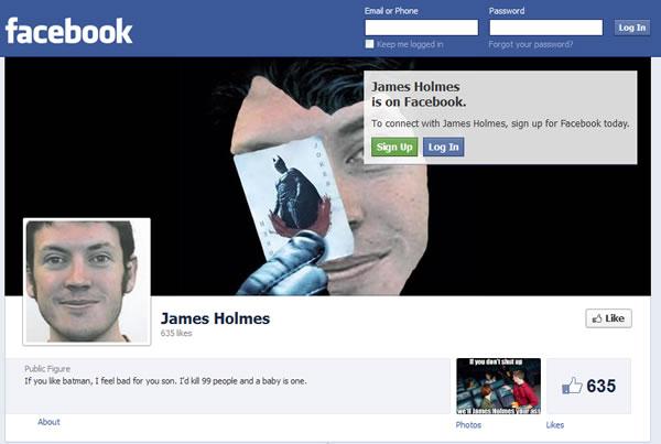 james holmes facebook page