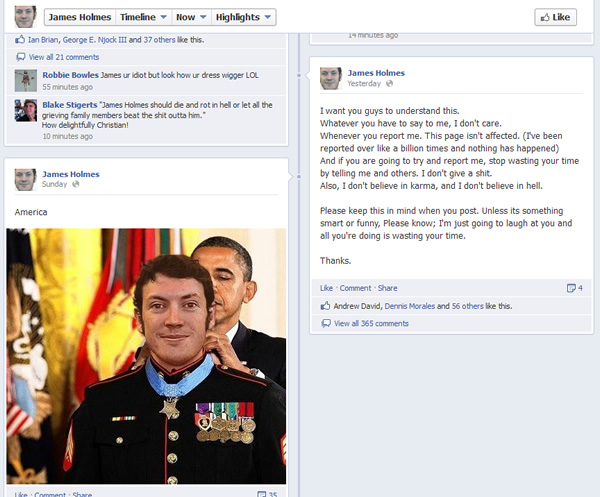 james holmes tribute page