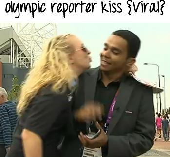 olympic reporter kiss arabic