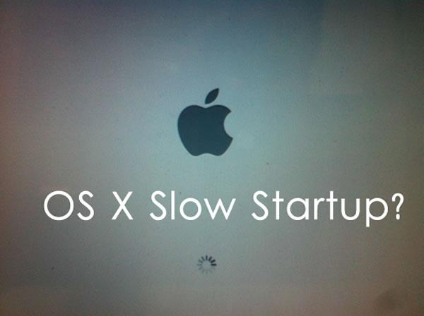 slow startup os x mountain lion