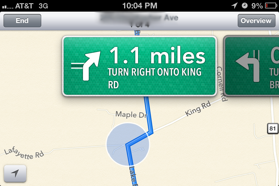 iphone ios 6 map issues