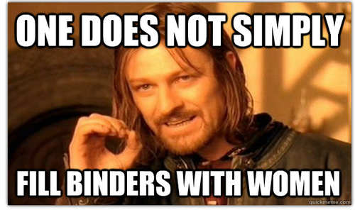 one does not simply fill binders women
