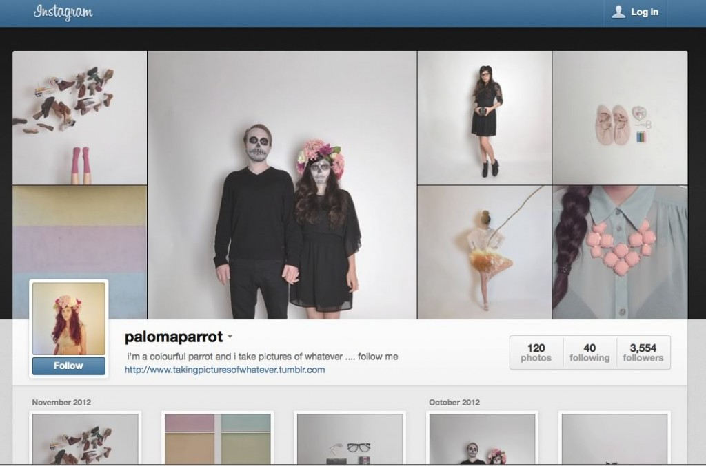 instagram web profile