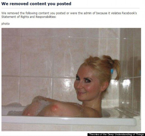 girl elbows facebook removed