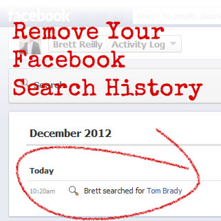 clear search history fb