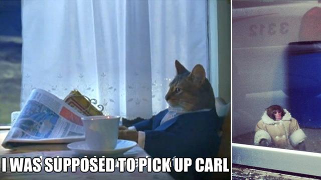 ikea monkey pick up carl meme