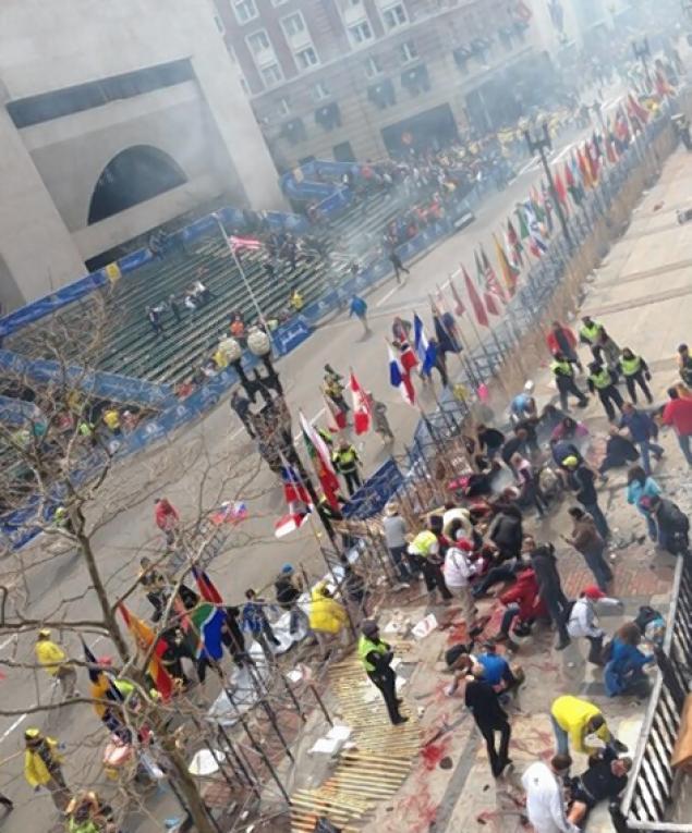 explosions at boston marathon finish line