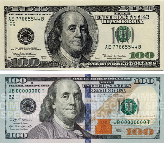 new 100 dollar bill design