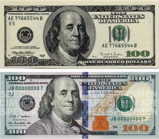 new 100 hundred dollar bill redesign design