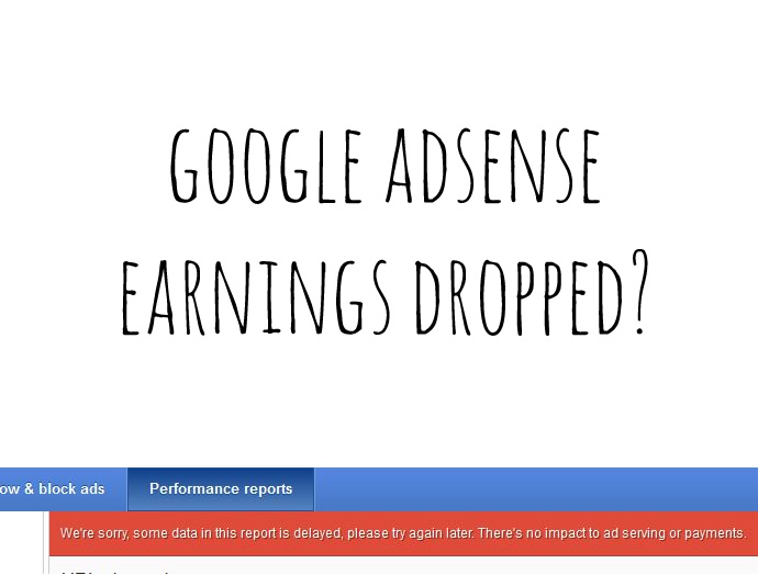 google-adsense-earnings-dropped