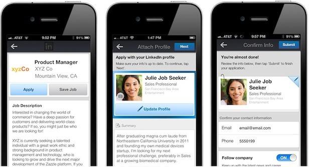 apply to job linkedin app