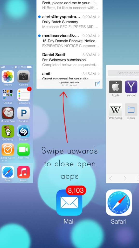 iphone close all apps how to an iphone app on ios 7 3407