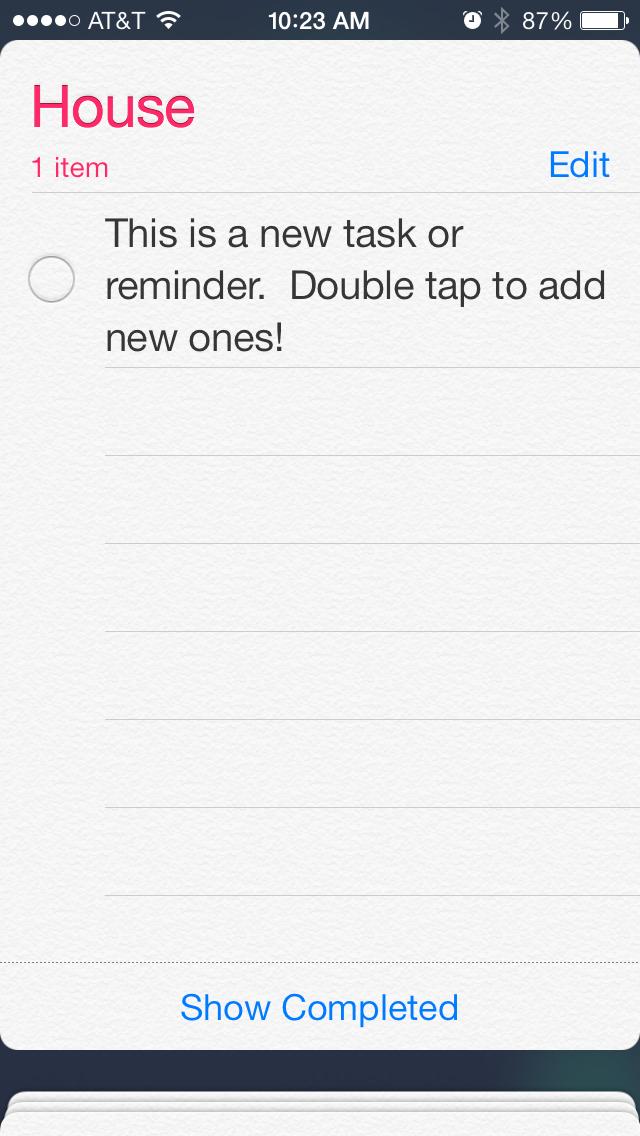 ios7 adding reminder tasks