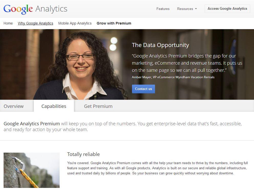 google analytics premium price