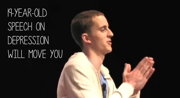 keven breel depression speech video