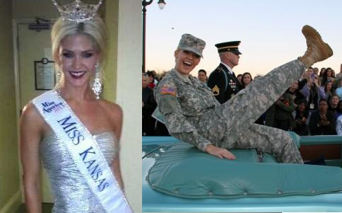 Beauty queen and U.S. Army Soldier Theresa Vail wouldn't be included in any ad campaigns