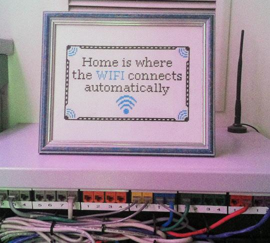 funny wifi connection home frame 1