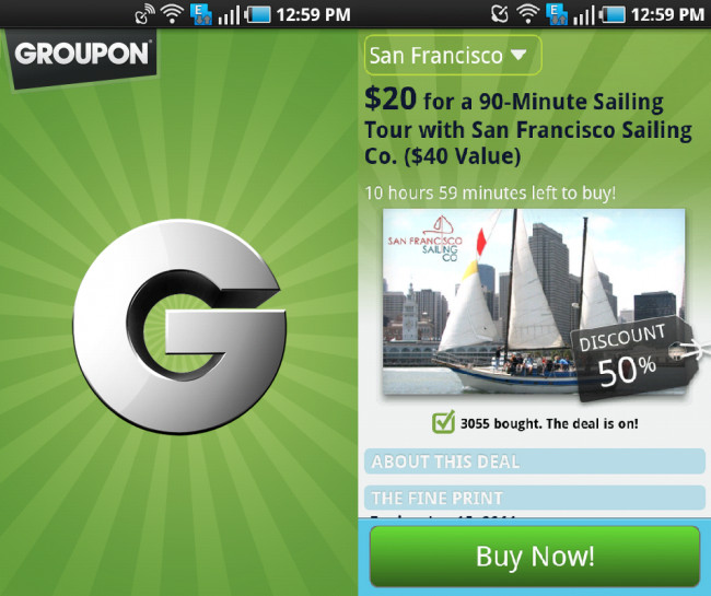 groupon amazon app