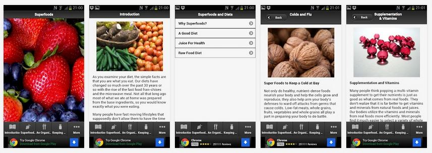 superfoods-android-health-app