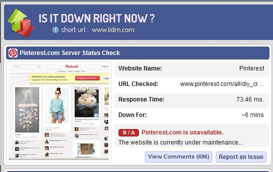 pinterest-site-down-right-now