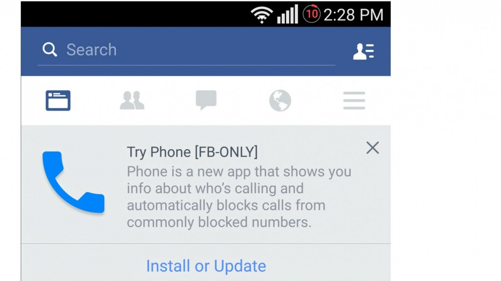 facebook making a phone app