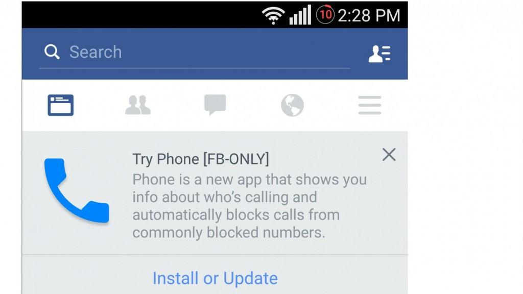 facebook making a phone app
