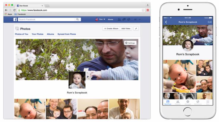 facebook scrapbook for baby photos 2