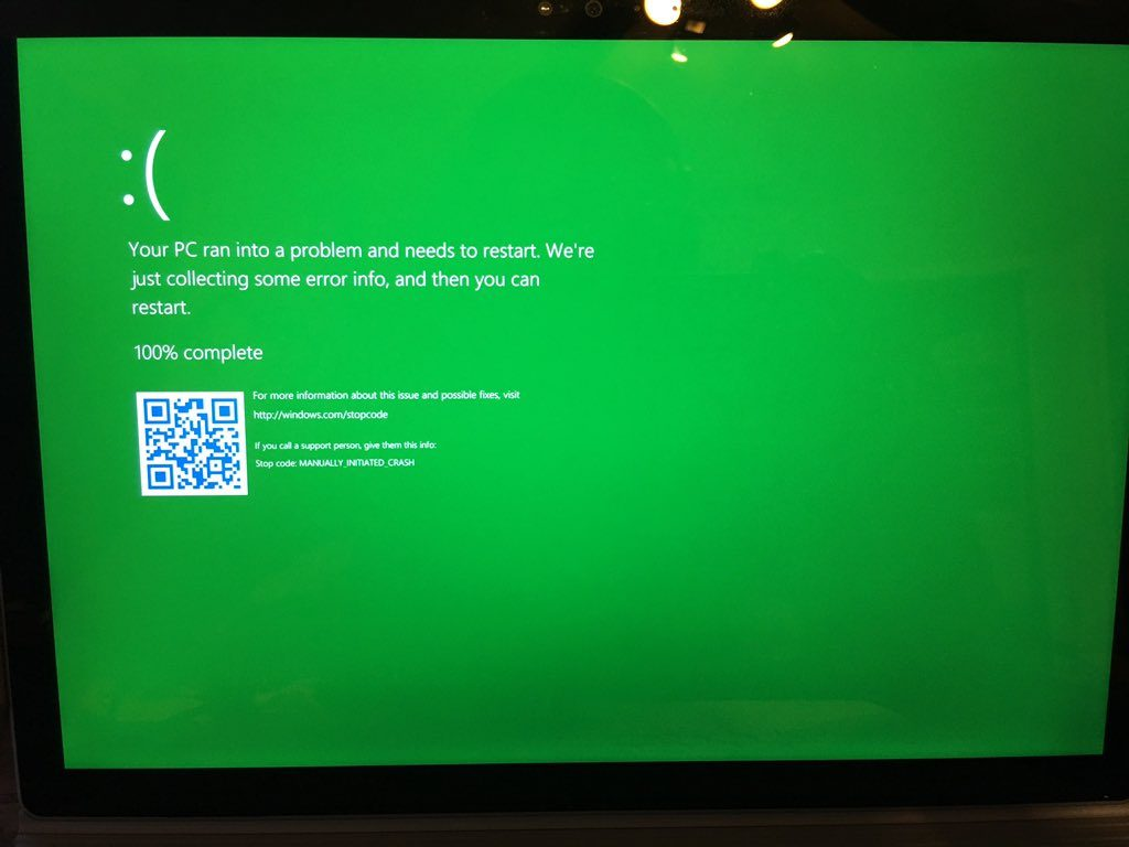 green screen of death (gsod)