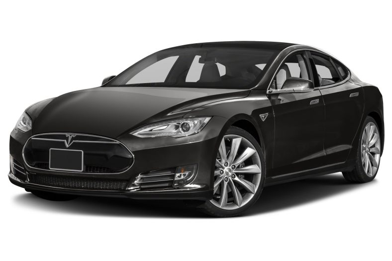 black tesla model s electric sedan