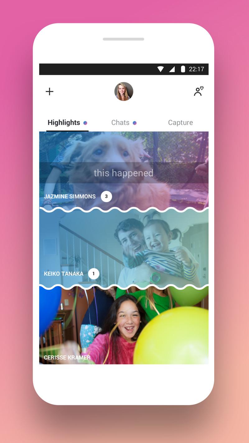 Skype Snapchat Redesign