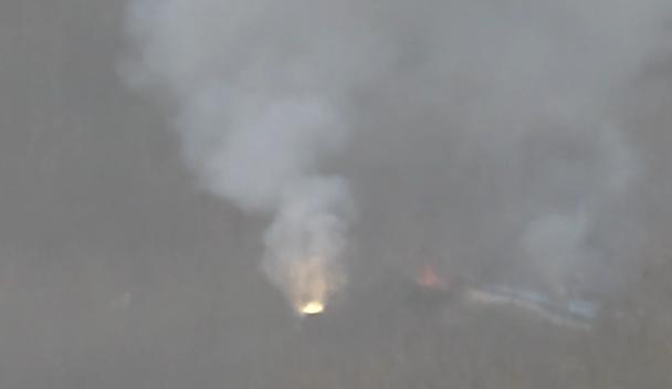 fiery scene of kobe helicopter crash