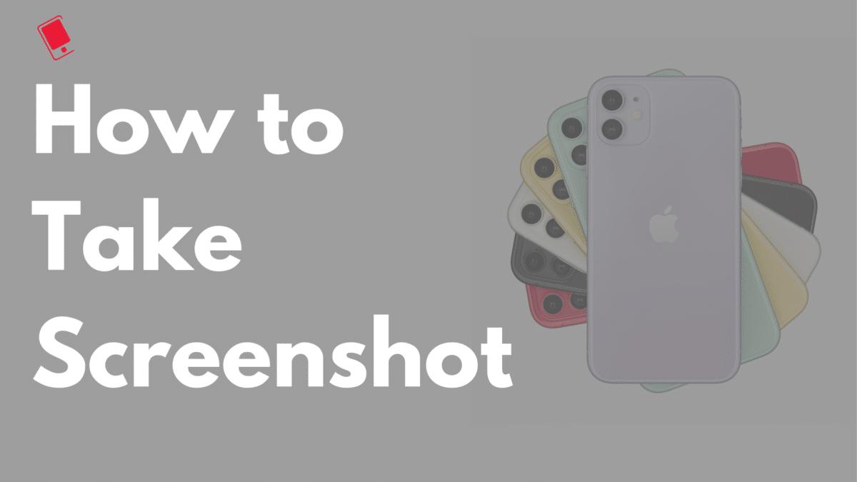 how to take screenshot on iphone 11